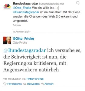 Regierungsverantwortung als Bremse? (Twittersscreenshot)