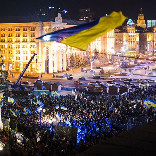 Die Proteste in Kiew halten an. Bürger fordern seit Tagen den Rücktritt des Präsidenten und die Annäherung des Landes an Europa. - Foto: E. Feldman