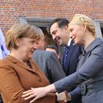 Angela Merkel und Julia Timoschenko